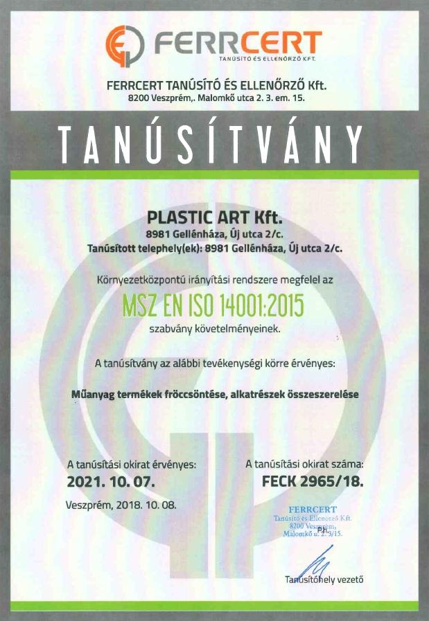 Plasticart - MSZ_EN_ISO_14001_HUN