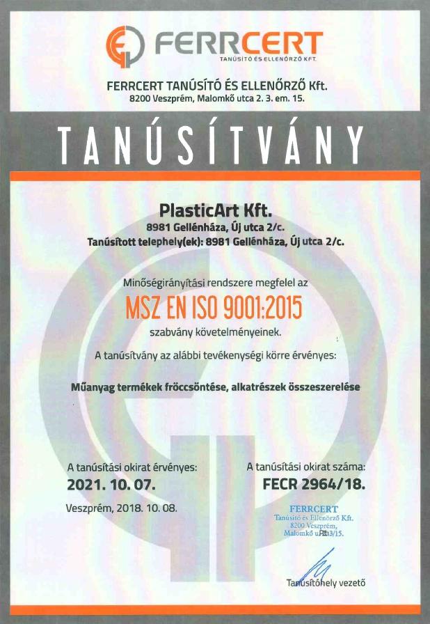 Plasticart - MSZ_EN_ISO_9001_HUN